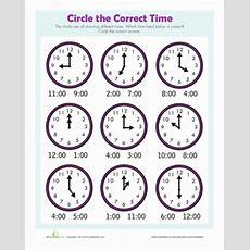 Find The Time  Worksheet Educationcom