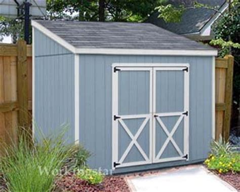 4 x 8 lean to roof storage shed blueprints project