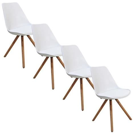 chaise design blanc chaise blanche style scandinave