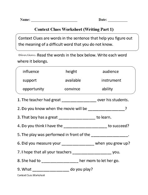 9th grade language arts worksheets worksheets for all