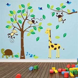 Jungle wall decals 2017 grasscloth wallpaper for Nice safari wall decals for nursery