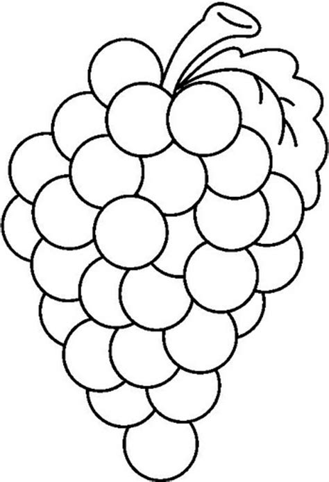 Coloring Grapes by Fruit Coloring Pages And Printables Crafts And
