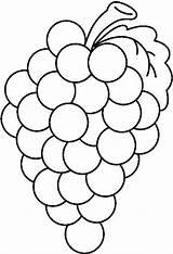 Coloring Fruit Grapes Preschool Pages Bw Grape Clipart Worksheets Kindergarten Crafts Printables Banana sketch template