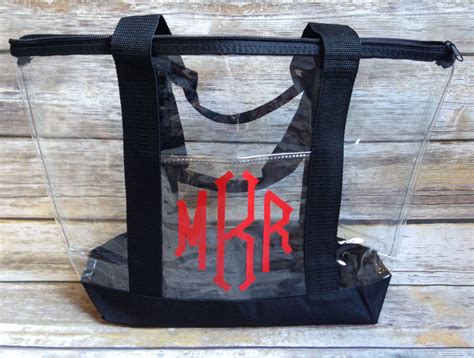 monogrammed clear tote clear tote
