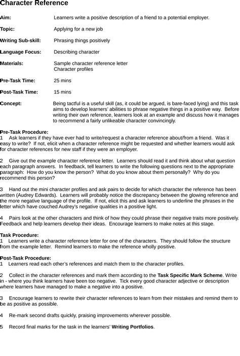 sample character reference letter  court judge