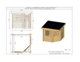 Canapé D Angle De Jardin by Abri De Jardin D Angle 240x240 Cm To 238 T Plat Trait 233 Marron