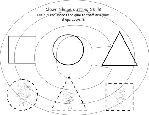 7 best images of cutting shapes printables printable dr 564 | cut out shapes for preschoolers 227044