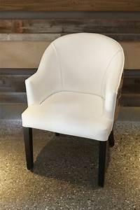White Burlap Chair 1