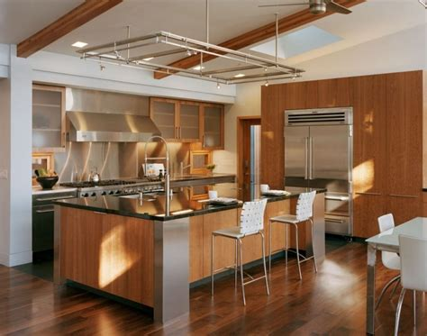 des vers dans la cuisine cuisine rustique contemporaine 50 idées de meubles en bois