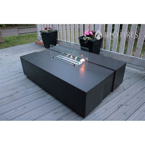 Concrete Coffee Table With Builtin Bioethanol Insert