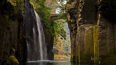 japan takachiho gorge kyushu  bing desktop wallpaper