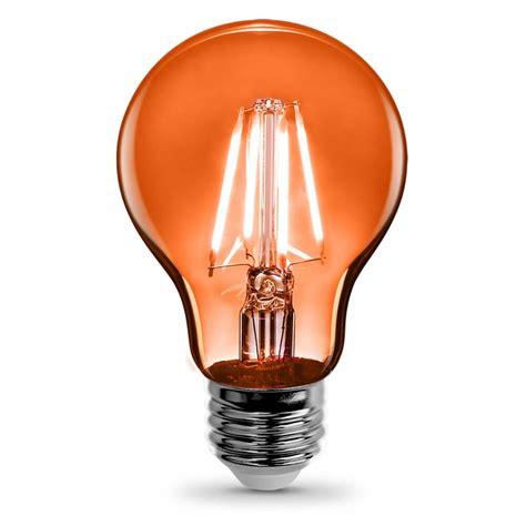 a19 clear glass orange led bulb feit electric