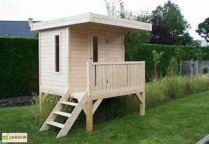 Maison Pour Enfant En Bois : maison enfant bois 16mm sur pilotis 180x180 solid ~ Premium-room.com Idées de Décoration