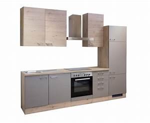 Küchenzeile 2 70 M Mit Elektrogeräten : k che riva k chenblock k chenzeile mit elektroger ten 270 cm bronze metallic ebay ~ Bigdaddyawards.com Haus und Dekorationen