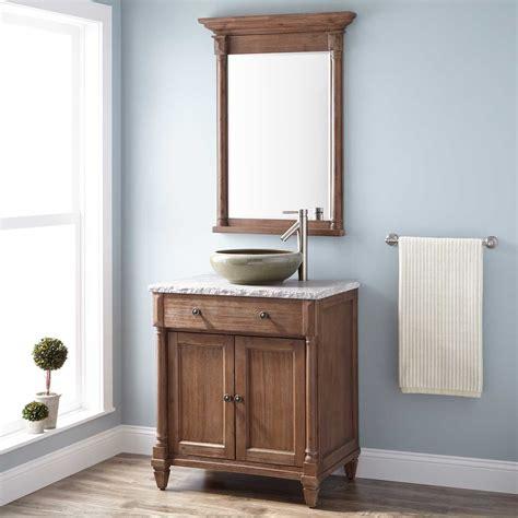 rustic vessel sink vanity 30 quot neeson vessel sink vanity rustic brown bathroom