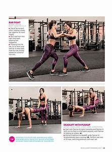 9 page spread on fitness hers