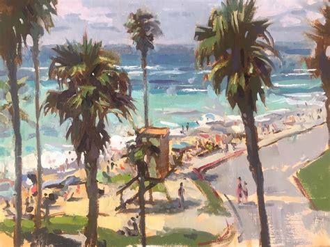 plein air artist jeff markowsky painting palm trees outdoorpainter