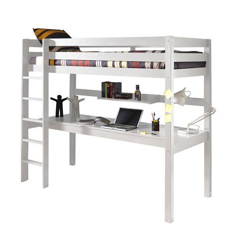 lit mezzanine avec bureau but lit mezzanine en pin massif 90x200cm avec bureau intégré