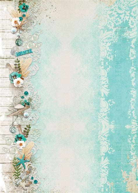 Summer Feelings Background Paper Double Printed A4