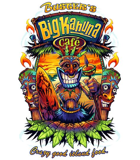 local restaurants busters big kahuna cafe tiki totems