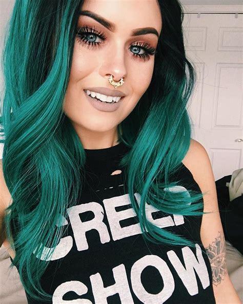 The 25 Best Emerald Green Hair Ideas On Pinterest Ombre