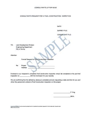 request  final inspection letter edit fill