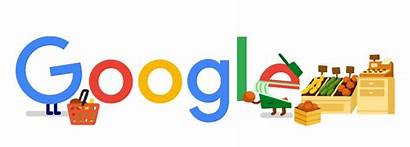 Thank Workers Google Grocery Doodles Logos