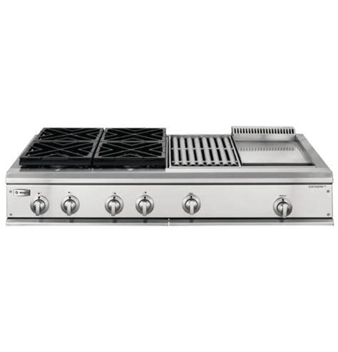 ge monogram  professional gas cooktop   burners grill  griddle liquid propane
