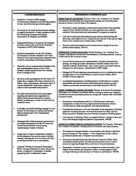 executive level resume exle free sles exles