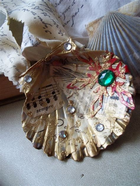 christmas crafts with shells decoupage seashell ornaments ideas seashell ornaments decoupage and
