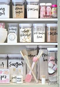 storage sources and tips for creating a baking cabinet With kitchen colors with white cabinets with how to print labels on sticker paper