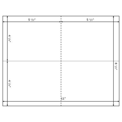 burris blank double post card template  microsoft word