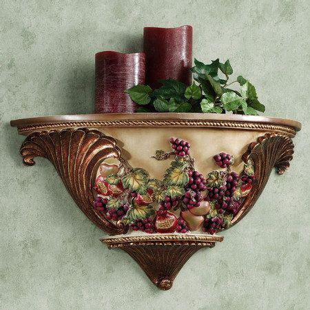 grape kitchen accessories wall shelf tuscan decor for my kitchen 1308