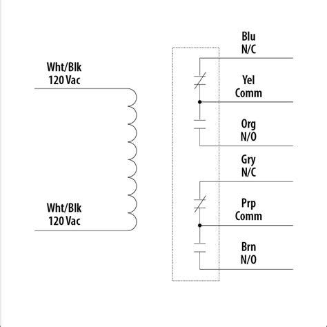 Rib Relay Dpdt Wiring Diagram by Rib01p Enclosed Relay 20 Dpdt 120vac Dm Supply