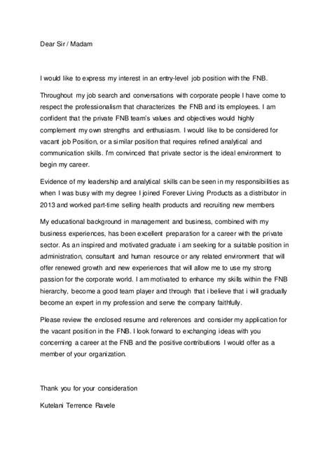 Sle Cover Letter For Internship In Information Technology by Linkedin Cover Letter Application Letter Sle Cover