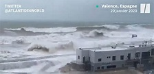 CLIMAT : Les images de la tempête Gloria qui arrive en ...