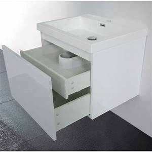 Meuble Vasque 60 : meuble de salle de bain 60 cm suspendu simple vasque primo ~ Teatrodelosmanantiales.com Idées de Décoration