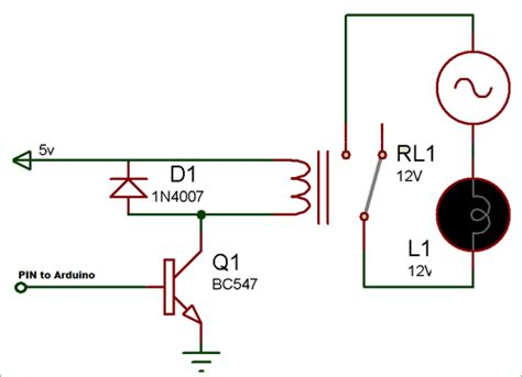 Led Bulb 9 C Wiring Schematic by Relay Driver Circuit Electronic Circuit Diagrams In 2019
