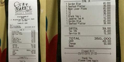 Harga Aborsi Jogja Makan Di Fat Bubble Kasir Seenaknya Bulatkan Bill Jadi Rp
