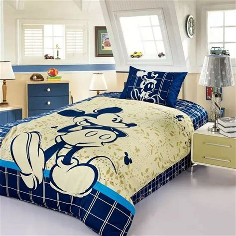 mickey mouse comforter 100 cotton checked mickey mouse comforter set mickey