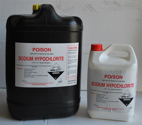 sodium hypochlorite clorogene cleaning supplies