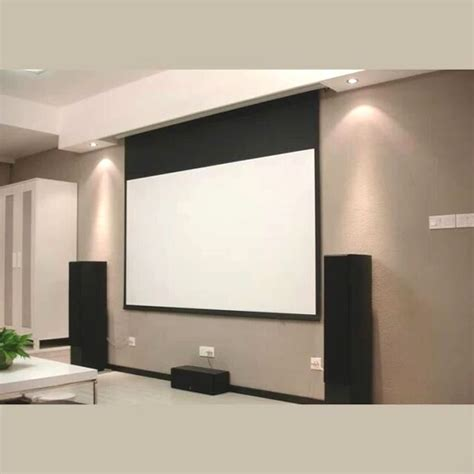 remote control recessed  ceiling motorized projector