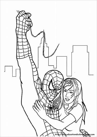 Spiderman Coloring Pages Colouring Template Templates Printable