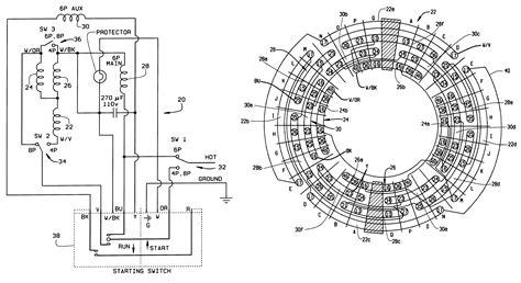 Patent Single Phase Three Speed Motor With
