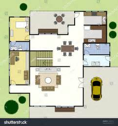 floor plans to build a house ground floor plan floorplan house home stock vector 74222734