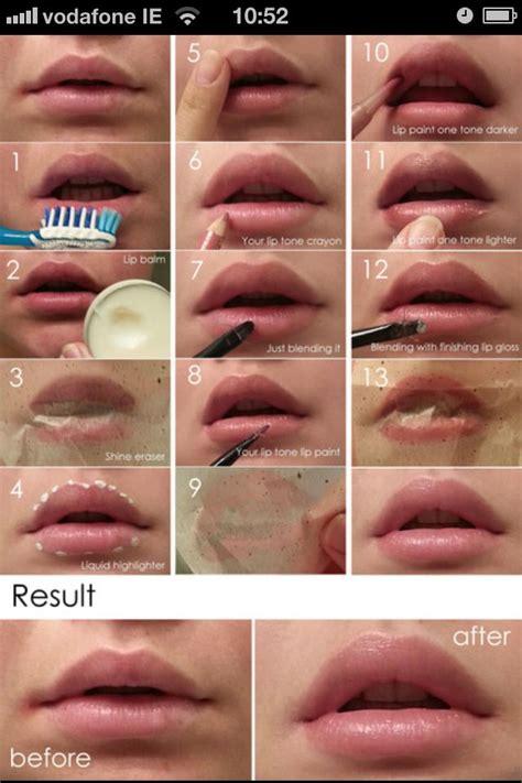 bigger lips  fillers  natural  beauty room pinterest makeup tricks bigger lips