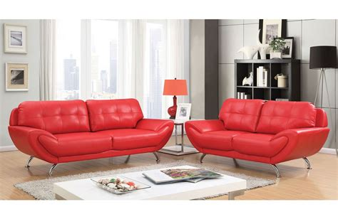 Red Leather Living Room Set [peenmediam]