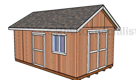 Free Shed Blueprints 12x20 by 12x20 Shed Plans Free Howtospecialist How To Build