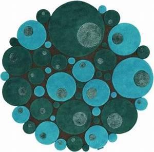 Tapis Rond Bleu Canard : tapis rond bleu tapis de salon pinterest ~ Teatrodelosmanantiales.com Idées de Décoration