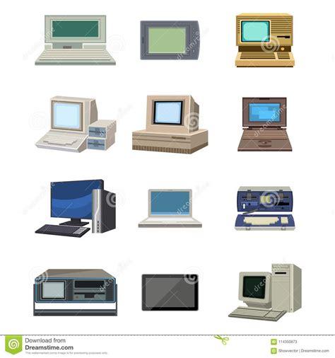 computer technology vector evolution display